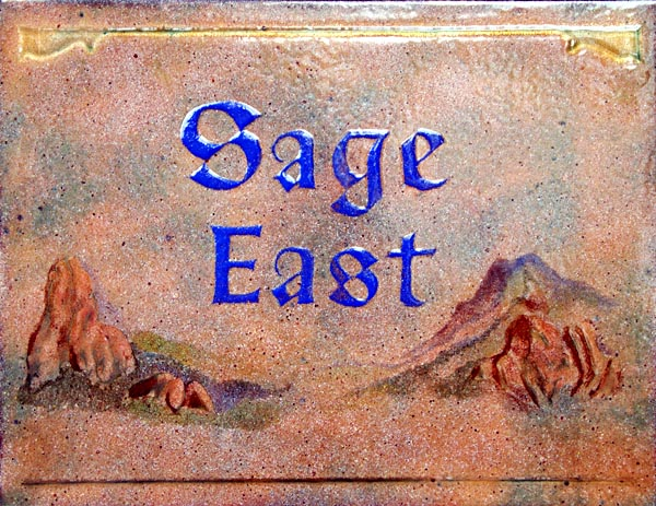 Fountain Valley School Sign: Sage East