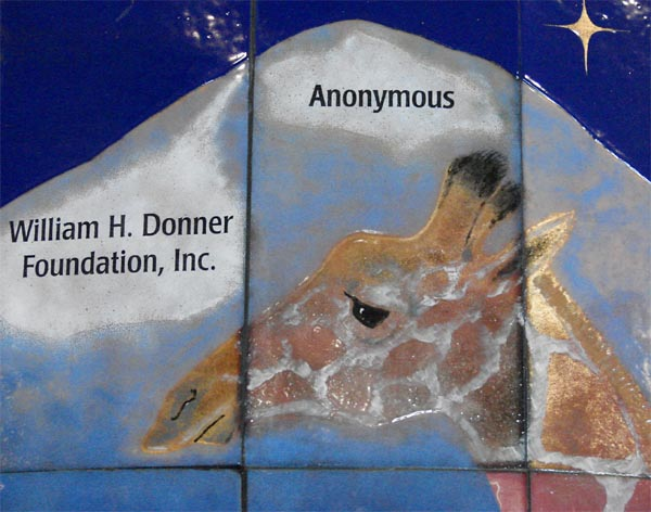 Zoo Donor Wall, Detail